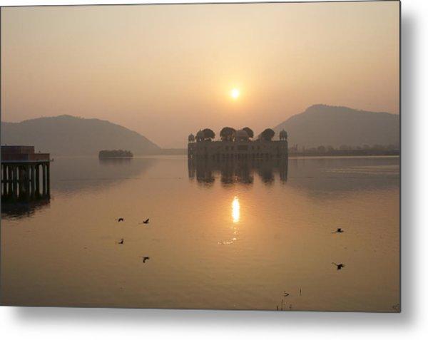 Man Sagar Lake Metal Print