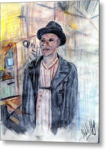 Man With A Harmonica Metal Print by Deborah Duffy