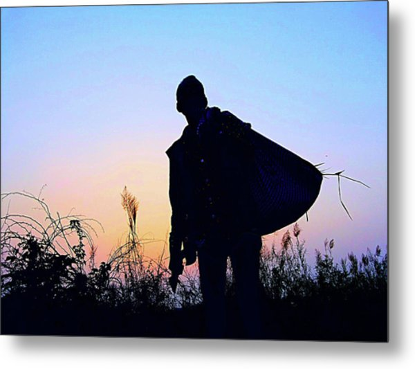 Man With Bag Metal Print