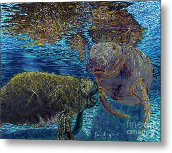 Manatee Motherhood Metal Print