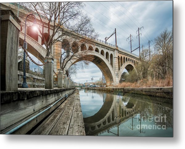 Manayunk Bridge Metal Print