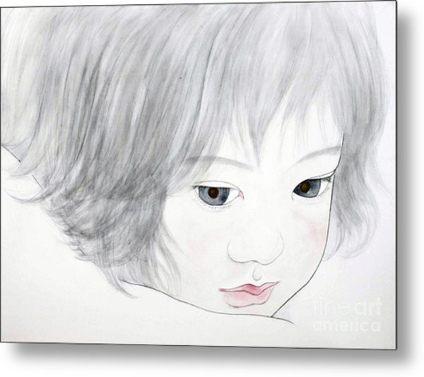 Manazashi Or Gazing Eyes Metal Print