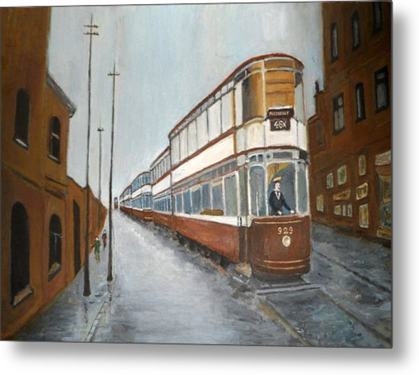 Manchester Piccadilly Tram Metal Print