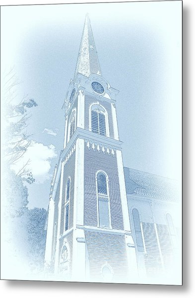 Manchester Vt Church Metal Print