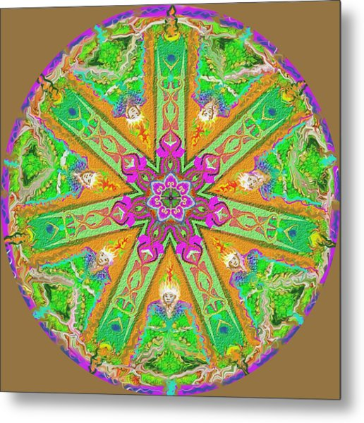 Metal Print featuring the painting Mandala 12 27 2015 Kings And Priests by Hidden Mountain
