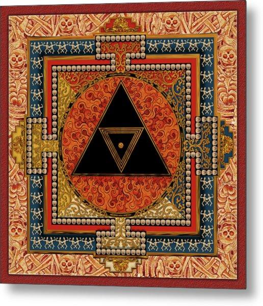 Mandala Kalichakre For Her Metal Print by Mark Myers