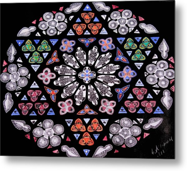 Mandala Of Hope Phase 2 Metal Print