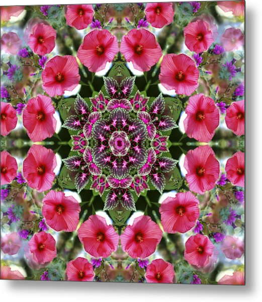 Mandala Pink Patron Metal Print