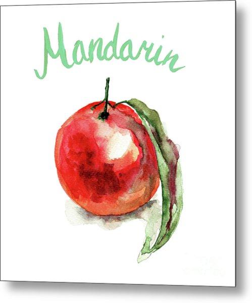 Mandarin Fruits Metal Print