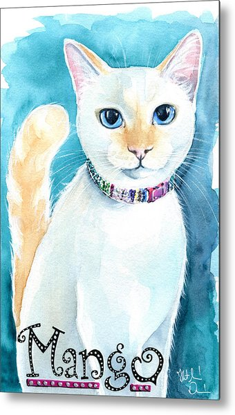 Mango - Flame Point Siamese Cat Painting Metal Print