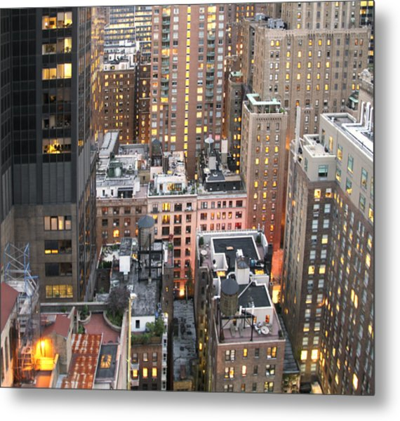 Manhattan At Dusk Metal Print