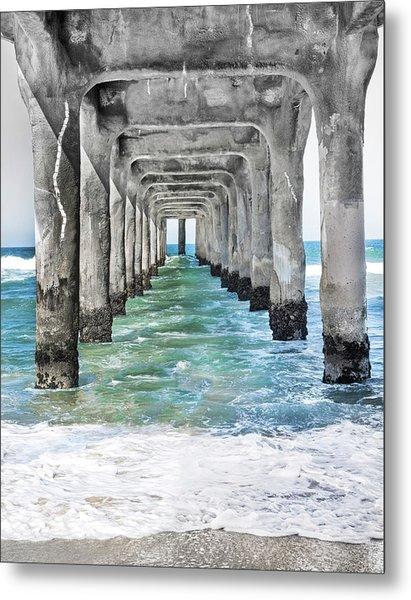 Manhattan Beach Pier Metal Print
