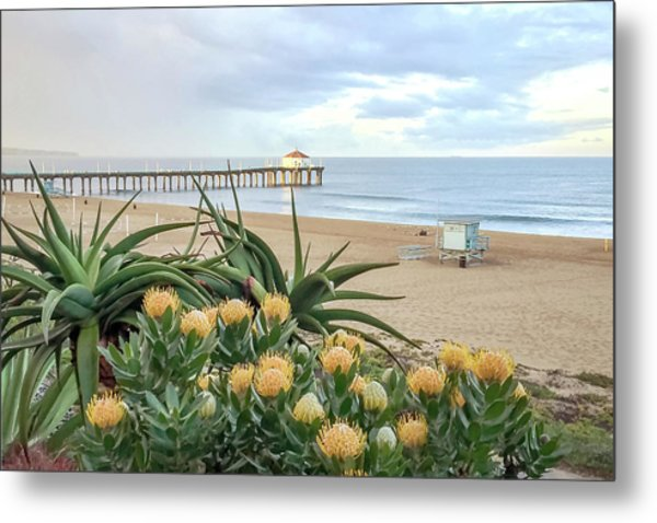 Manhattan Beach View Metal Print