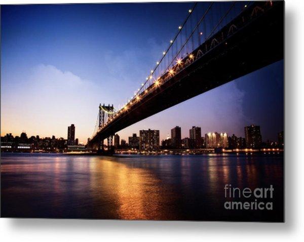 Metal Print featuring the photograph Manhattan Bridge by Scott Kemper