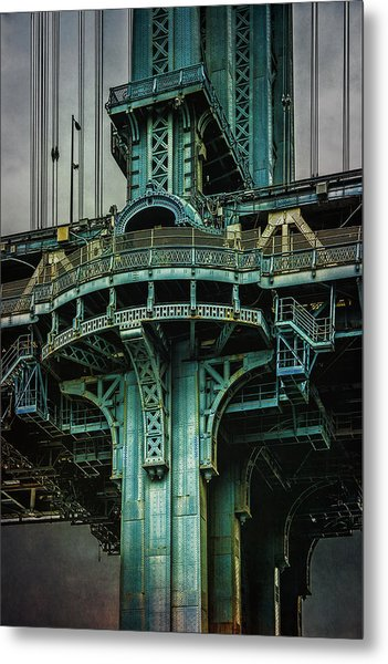 Metal Print featuring the photograph Manhattan Bridge Tower by Chris Lord