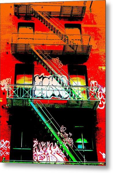 Manhattan Fire Escape Metal Print