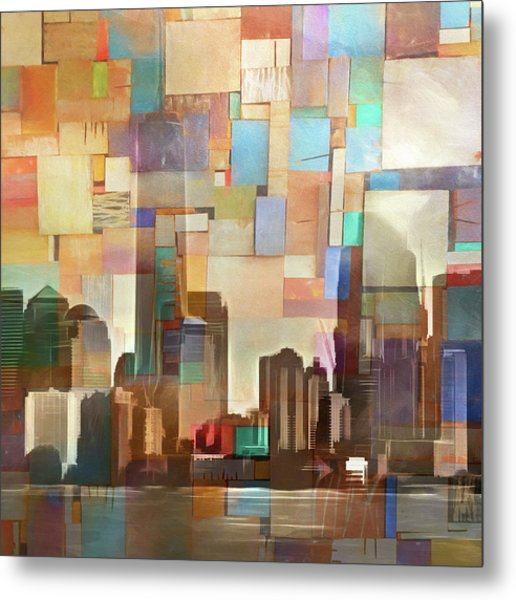 Manhattan Impression Metal Print