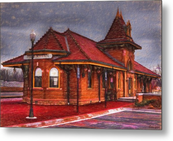 Manhattan Kansas Train Depot Metal Print