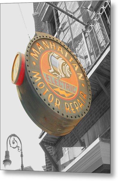 Manhattan Motor Metal Print by Audrey Venute