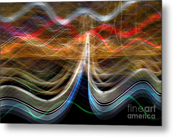 Manhattan Pulse Metal Print