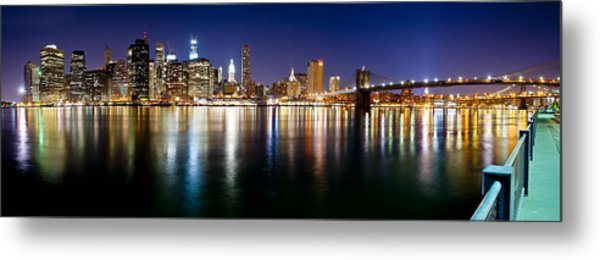 Manhattan Skyline - Southside Metal Print