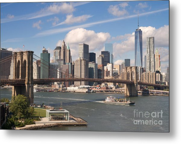 Manhattan Skyline Metal Print by Bryan Attewell