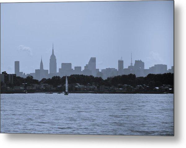 Manhattan Skyline From Syc 1 Metal Print by Arthur Sa