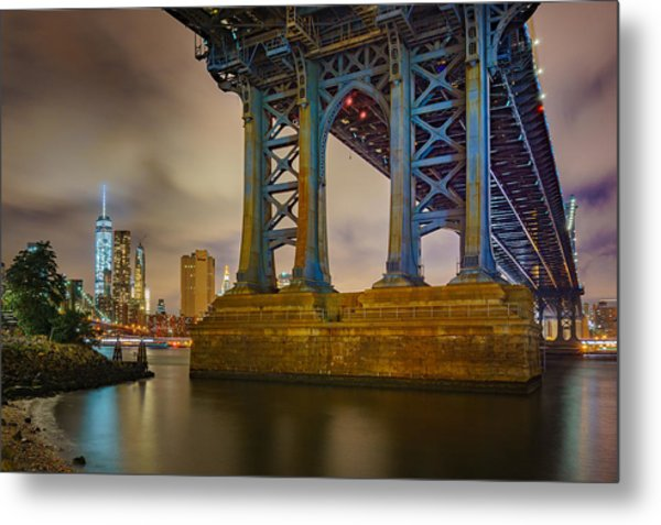 Manhattan Steel Metal Print