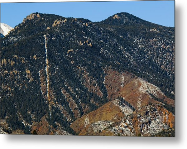 Manitou Incline Photographed From Red Rock Canyon Metal Print