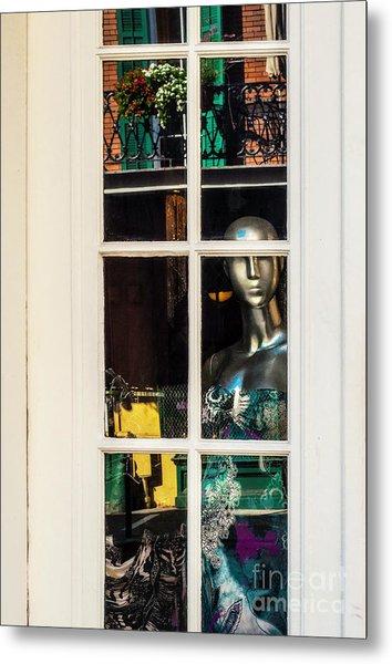 Mannequin Reflecting Metal Print