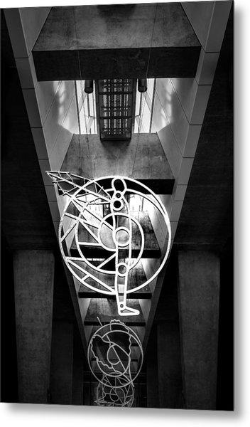 Man's Spheres Metal Print