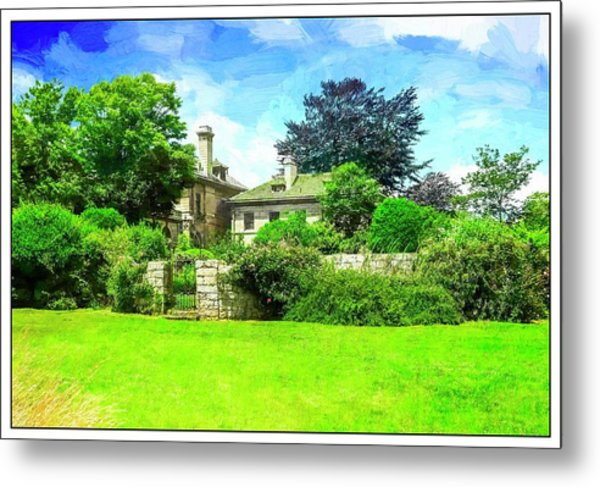 Mansion And Gardens At Harkness Park. Metal Print