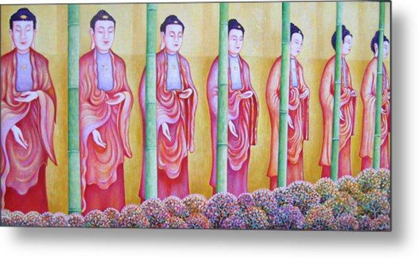 Many Budhas Metal Print by Hiske Tas Bain