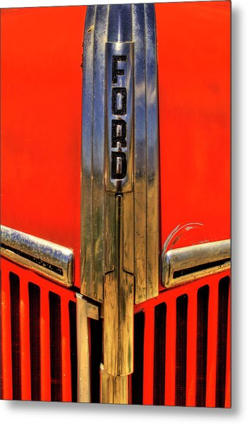 Manzanar Fire Truck Hood And Grill Detail Metal Print