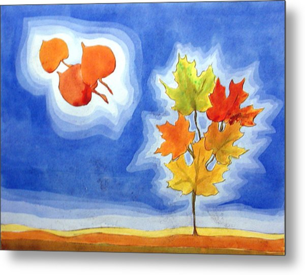Maple Fall Metal Print