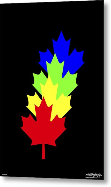 Maple Leaves Metal Print by Asbjorn Lonvig