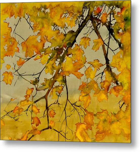 Maples In Autumn Metal Print