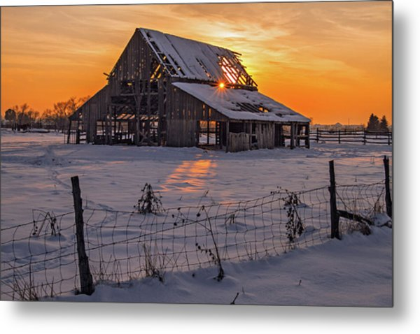 Mapleton Barn Metal Print