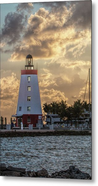 Marathon Light House Metal Print
