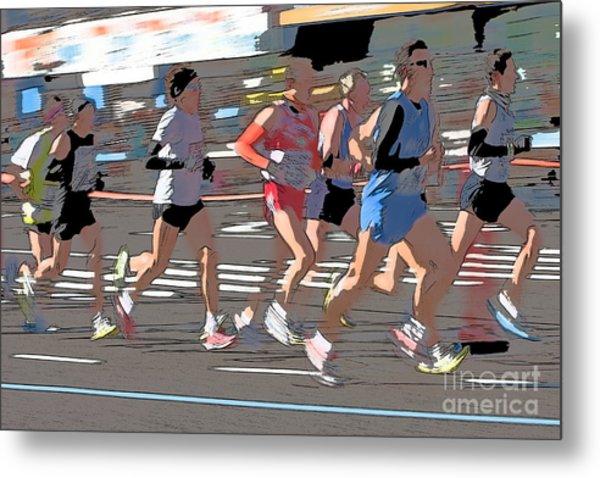 Marathon Runners II Metal Print