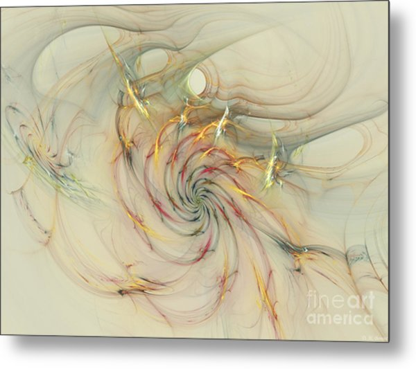 Marble Spiral Colors Metal Print