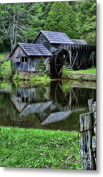 Marby Mill Reflection Metal Print