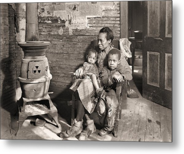 March 1937 Scott's Run, West Virginia Johnson Family. Metal Print