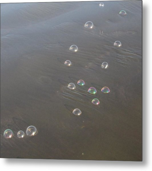 March Of The Bubbles Metal Print