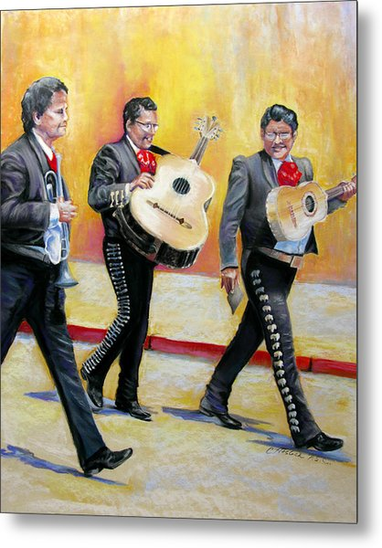 Marching Mariachi Metal Print by Carole Haslock