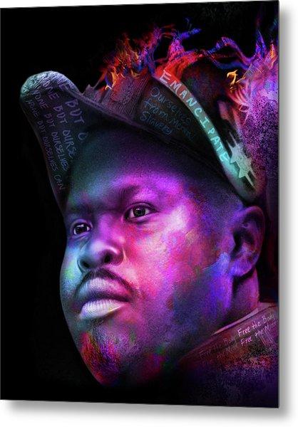 Marcus Garvey Portrait Metal Print