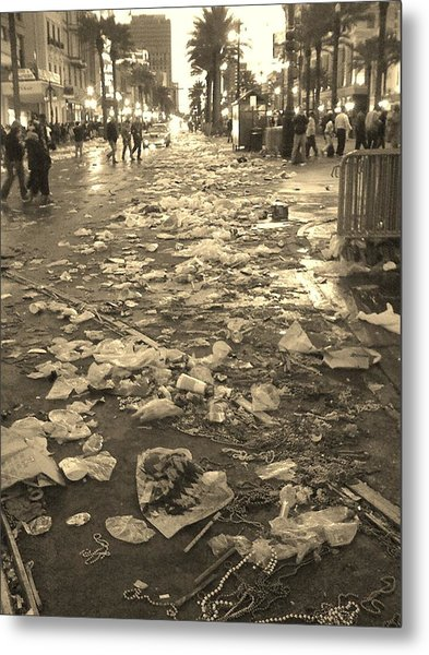 Mardi Gras 2010 Aftermath Metal Print by Veronica Trotter