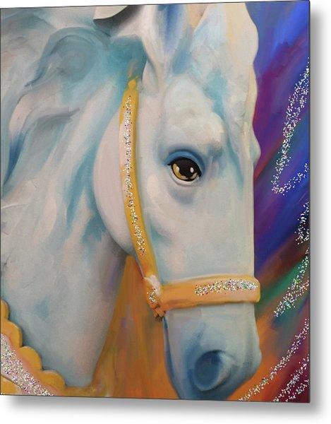 Mardi Gras Horse Metal Print