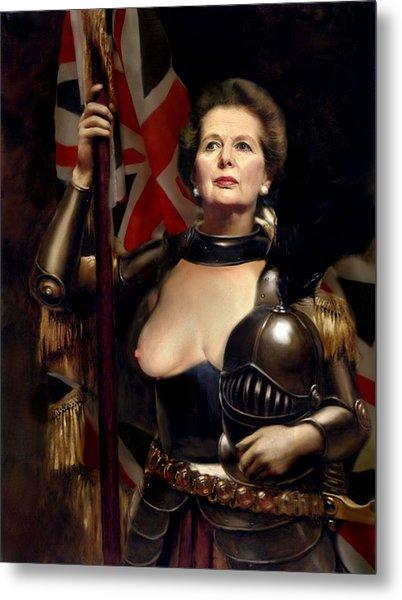 Margaret Thatcher Nude Metal Print