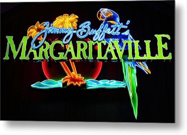 Margaritaville Neon Metal Print